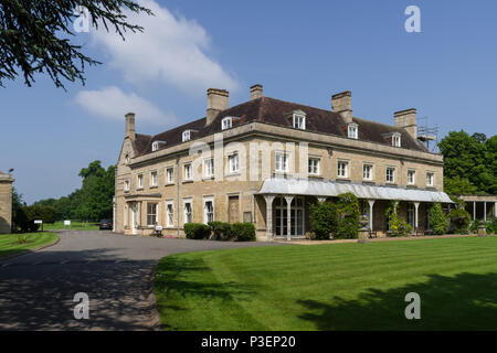 Wollaston Hall, an 18th century historic house, owned from 1940 by Scott Bader, a multi million £ global chemical company; Northamptonshire, UK - Stock Image