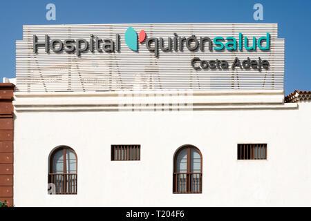 Quirónsalud Hospital Costa Adeje, Tenerife, Canary Islands. - Stock Image