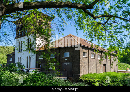 Coppermill Tower, 1864, Italianate architectural style, Walthamstow Wetlands project, London, England - Stock Image