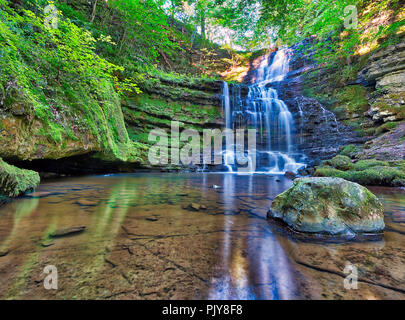 Scaleber Force Waterfall High Hill Lane Settle Yorkshire BD23 4BB - Stock Image