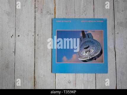 Dire Straits 1985 album Brothers in Arms - Stock Image
