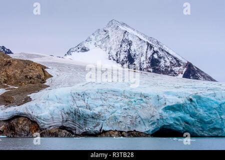 Greenland. East Greenland. Liverpool Land. Warming Island. 'Dead' glacier - no longer advancing. - Stock Image