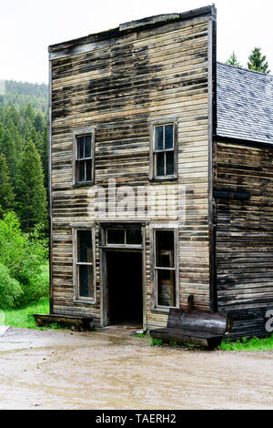 An old store in Garnet Ghost Town near Missoula, Montana, USA - Stock Image