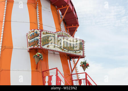A Helter Skelter ride close up - Stock Image