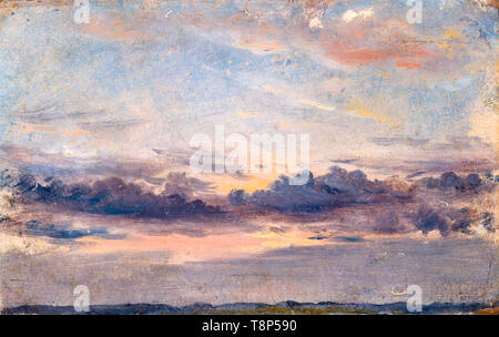 John Constable, A Cloud Study, Sunset, painting, c. 1821 YCBA - Stock Image