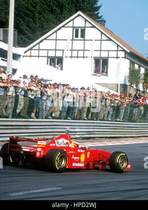1997 Michael Schumacher German Ferrari 310B Spa Belgian GP 1st - Stock Image