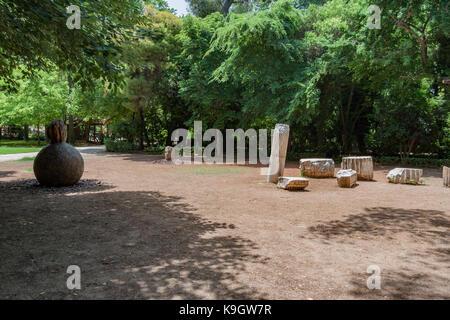 National Garden Athens Greece - Stock Image