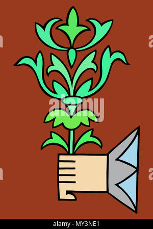 I give you green things - Stock Image