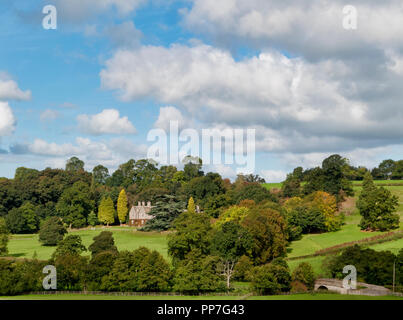 Ashbourne, Derbyshire, UK. 24th September, 2018. UK Weather: Unusually warm & sunny September day view of Callow Hall Country House Hotel near Ashbourne Derbyshire Credit: Doug Blane/Alamy Live News - Stock Image