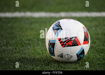 Mapfre stadium, USA. 23rd April, 2016. .Game ball in the first half of the match between Houston Dynamo and Columbus - Stock Image