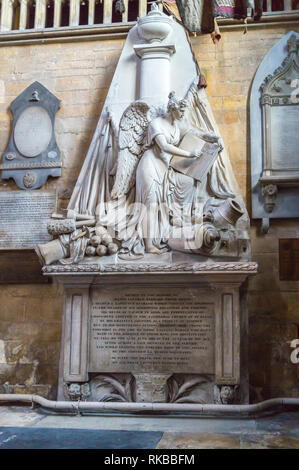 Victorian funeral monument to Major-general Barnard Foord Bowes, killed at Salamanca, 1769-1812, Beverley Minster, East Riding, Yorkshire, England - Stock Image