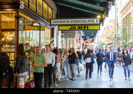 Haigh's chocolate and confectionary store at the Strand Arcade in George street,Sydney,Australia - Stock Image