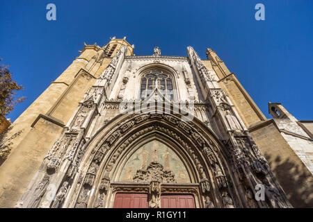 cathedral Aix en Provence,  Bouches-du-Rhone, France, - Stock Image