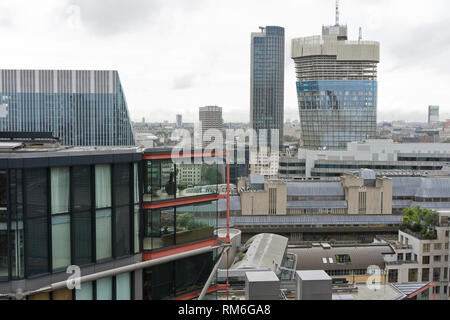 View of the Neo Bankside development from the viewing platform of the adjacent Tate Modern Switch House, London, UK - Stock Image