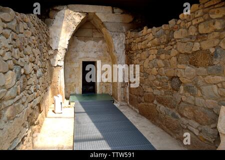 Funeral tumulus -Valley of the Thracian Kings in Kazanlak- Province of Stara Zagora.BULGARIA - Stock Image
