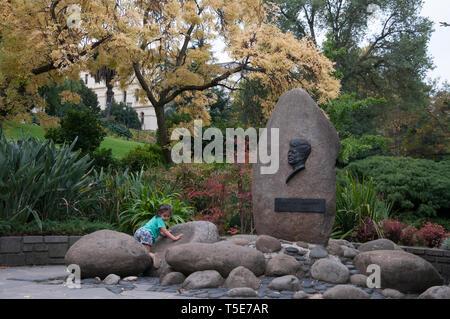 J.F. Kennedy Memorial in the Treasury Gardens, Melbourne, Australia - Stock Image