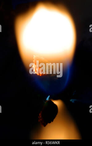 A shot of a candle wick at close - Stock Image