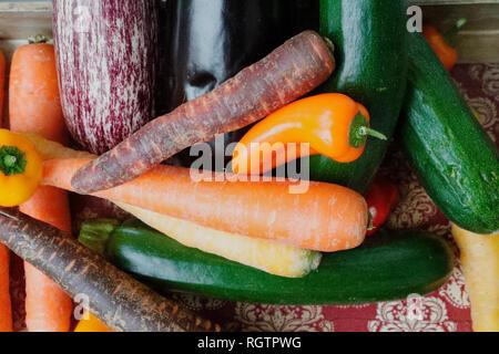 Various fresh organic vegetables. France - Stock Image