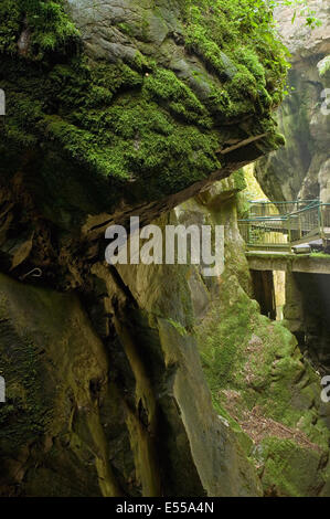 'Orrido di Bellano', a natural gorge carved out by the River Pioverna near Lake como, Italy - Stock Image