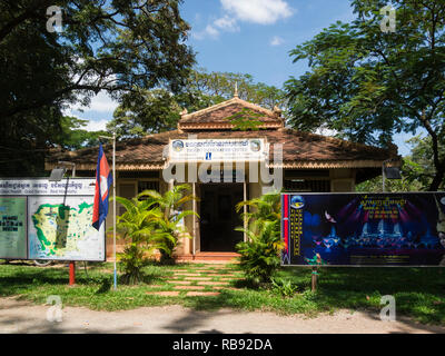 Entrance to Siem Reap Tourist Information Centre resort town in northwest Cambodia Asia - Stock Image
