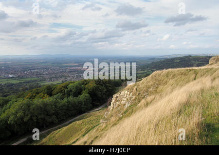 Cleeve Hill in the Cotswolds, Gloucestershire England UK - Stock Image