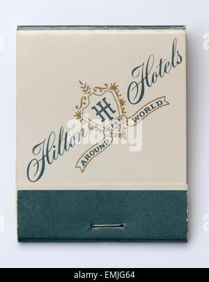 Vintage Matchbook advertising Hilton Hotels - Stock Image
