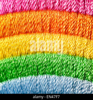Colorful stripey materal as a background image - Stock Image