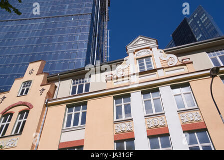 New and old architecture in Maakri street Tallinn, Estonia 03th June 2017 - Stock Image