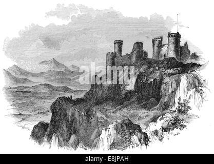 Harlech Castle North Wales circa 1880 - Stock Image