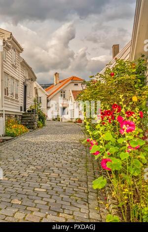 Old Town Road  Stavanger Norway - Stock Image