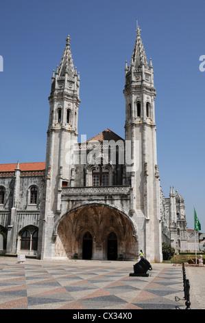 Jeronimos Monastery, Belem, Lisbon, Portugal - Stock Image