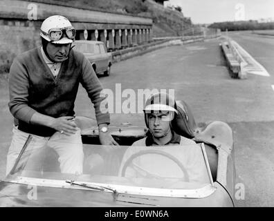 Oct 07, 1963; Rome, Italy; ANTONIO ASCARI aged 21 the son of famous motocar driver champion Alberto Ascari, dead on 1955 during - Stock Image