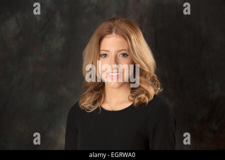 Walsall, West Midlands, UK. 1st March 2015. Jennifer Meierhans Senior News Producer at the new Big Centre TV channel. - Stock Image