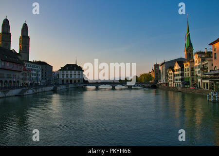 Morning in Zurich - Stock Image