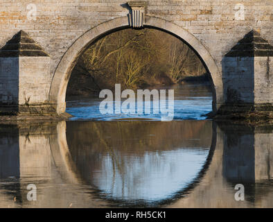 Milton Ferry Bridge over the River Nene, Peterborough, Cambridgeshire - Stock Image