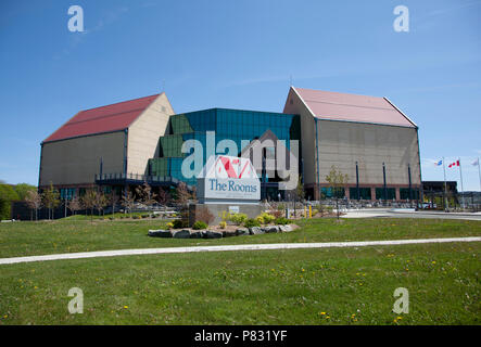 June 23, 2018- St. Johns, Newfoundland: The archives, restaurant and museum at the Rooms - Stock Image