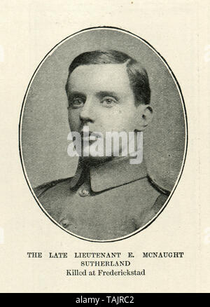 Lieutenant E McNaught Sutherland killed at Frederickstad, 1902 - Stock Image
