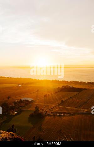 Rural landscape at sunset - Stock Image