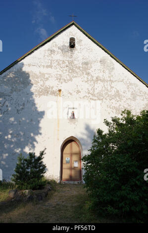 St Olav's Church facade. Vormsi island, Lääne county, Estonia - Stock Image