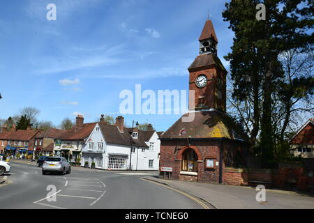 Wendover clock tower, Wendover town centre, Buckinghamshire, UK - Stock Image