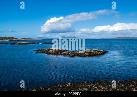 The beautiful sea coast at Lochailort in the Highalnds of Scotland - Stock Image