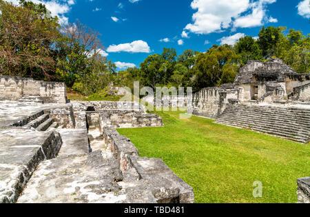 Ancient Mayan ruins at Tikal. UNESCO world heritage in Guatemala - Stock Image