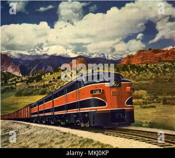 Diesel Train - Stock Image