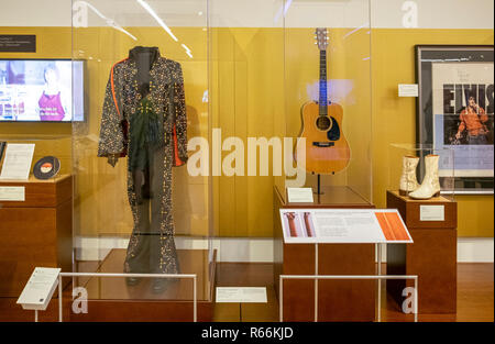 Elvis Presley display at the Musical Instrument Museum, Phoenix, Arizona, USA - Stock Image