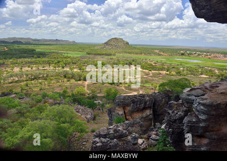 View from Anjalak Hill over the incredible scenery and wetlands of  Arnhem Land, Northern Territory, Australia - Stock Image