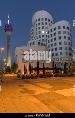 Düsseldorf MediaHafen is an urban borough of Düsseldorf, Germany, located on the river Rhine and the location of the city's docks. - Stock Image