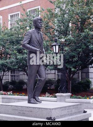 JFK Statue Outside of Capital - Stock Image