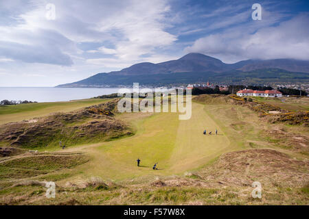 Royal County Down Golf Course in Newcastle Northern Ireland - Stock Image