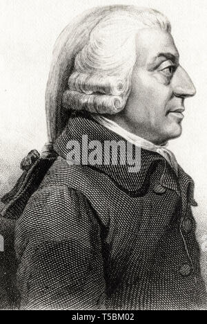 Adam Smith (1723-1790), portrait etching, c. 19th Century - Stock Image
