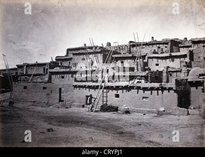 Section of South Side of Zuni Pueblo, N.M., 1873, by Timothy O'Sullivan - Stock Image